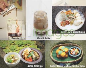 Aneka Menu makanan dan minuman Jiwa Jawi