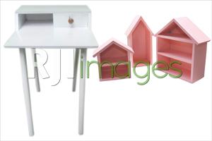 Minimalis Desk dan Rak Set Gantung
