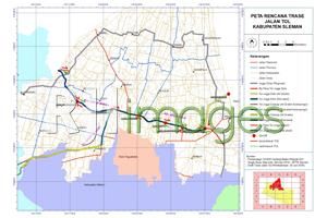 Peta Rencana Trase & Pintu Tol Kabupaten Sleman
