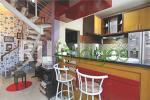 Area dapur dengan konsep minibar
